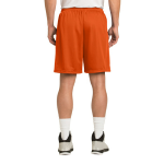 Deep Orange Sport-Tek PosiCharge Classic Mesh ™ Short as seen from the back