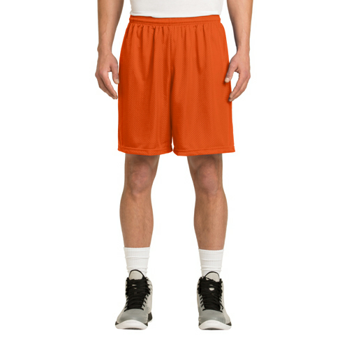 Deep Orange Sport-Tek PosiCharge Classic Mesh ™ Short as seen from the front