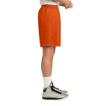 Deep Orange Sport-Tek PosiCharge Classic Mesh ™ Short as seen from the sleeveright
