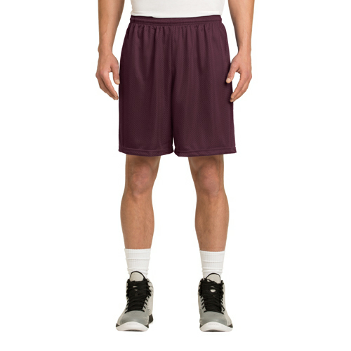 Maroon Sport-Tek PosiCharge Classic Mesh ™ Short as seen from the front