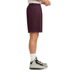Maroon Sport-Tek PosiCharge Classic Mesh ™ Short as seen from the sleeveright