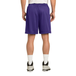 Purple Sport-Tek PosiCharge Classic Mesh ™ Short as seen from the back