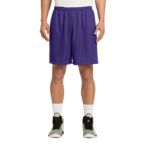 Purple Sport-Tek PosiCharge Classic Mesh ™ Short as seen from the front
