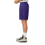 Purple Sport-Tek PosiCharge Classic Mesh ™ Short as seen from the sleeveleft