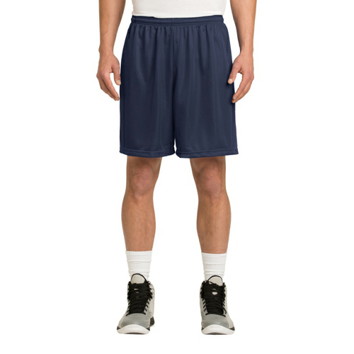 True Navy Sport-Tek PosiCharge Classic Mesh ™ Short as seen from the front