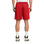 True Red Sport-Tek PosiCharge Classic Mesh ™ Short as seen from the back