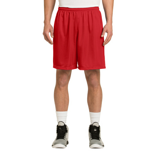 True Red Sport-Tek PosiCharge Classic Mesh ™ Short as seen from the front
