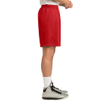 True Red Sport-Tek PosiCharge Classic Mesh ™ Short as seen from the sleeveright