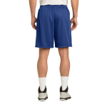 True Royal Sport-Tek PosiCharge Classic Mesh ™ Short as seen from the back