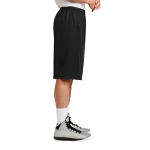 Black Sport-Tek Extra Long PosiCharge Classic Mesh ™ Short as seen from the sleeveright