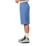 Carolina Blue Sport-Tek Extra Long PosiCharge Classic Mesh ™ Short as seen from the sleeveleft