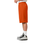 Deep Orange Sport-Tek Extra Long PosiCharge Classic Mesh ™ Short as seen from the sleeveleft