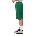 Kelly Green Sport-Tek Extra Long PosiCharge Classic Mesh ™ Short as seen from the sleeveleft