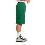 Kelly Green Sport-Tek Extra Long PosiCharge Classic Mesh ™ Short as seen from the sleeveright