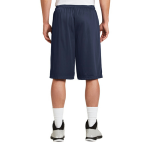 True Navy Sport-Tek Extra Long PosiCharge Classic Mesh ™ Short as seen from the back