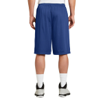 True Royal Sport-Tek Extra Long PosiCharge Classic Mesh ™ Short as seen from the back