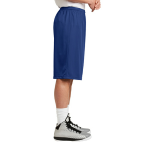 True Royal Sport-Tek Extra Long PosiCharge Classic Mesh ™ Short as seen from the sleeveright