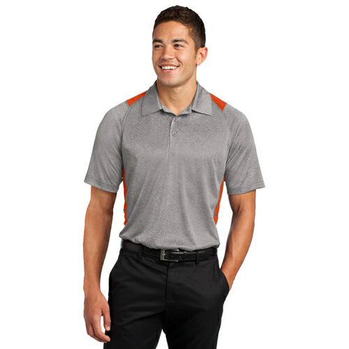 Sport-Tek Heather Colorblock Contender Polo - Embroidered