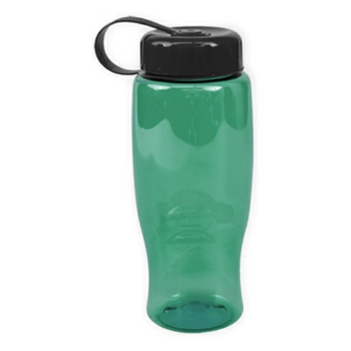 Poly-Pure -27oz. Transparent Bottle -Tethered Lid