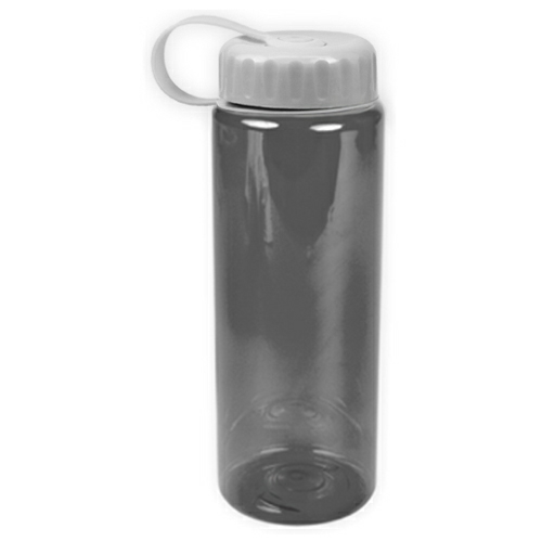 Transparent Smoke/white The Guzzler - 32 oz. Trans. Bottle-Tethered Lid as seen from the front