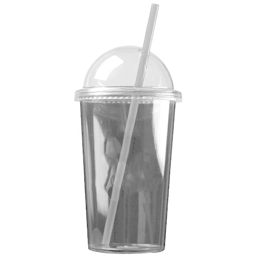 Clear The Patriot - 20 oz. Travel Tumbler (Dome Lid) as seen from the front