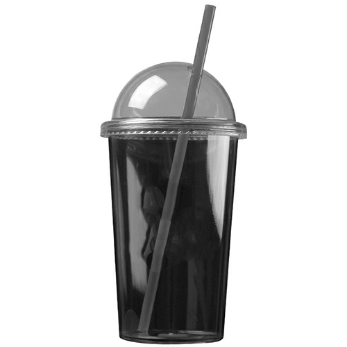 Transparent Smoke The Patriot - 20 oz. Travel Tumbler (Dome Lid) as seen from the front