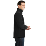 Black Port Authority Tall Value Fleece 1/4-Zip Pullover as seen from the sleeveright