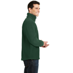 Forest Green Port Authority Tall Value Fleece 1/4-Zip Pullover as seen from the sleeveright