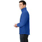 True Royal Port Authority Tall Value Fleece 1/4-Zip Pullover as seen from the sleeveleft
