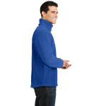 True Royal Port Authority Tall Value Fleece 1/4-Zip Pullover as seen from the sleeveright