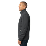 Graphite Port Authority Tall Pique Fleece Jacket as seen from the sleeveleft