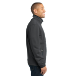Graphite Port Authority Tall Pique Fleece Jacket as seen from the sleeveright