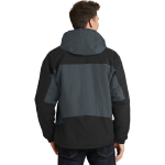 Graphite Black Port Authority Tall Nootka Jacket as seen from the back