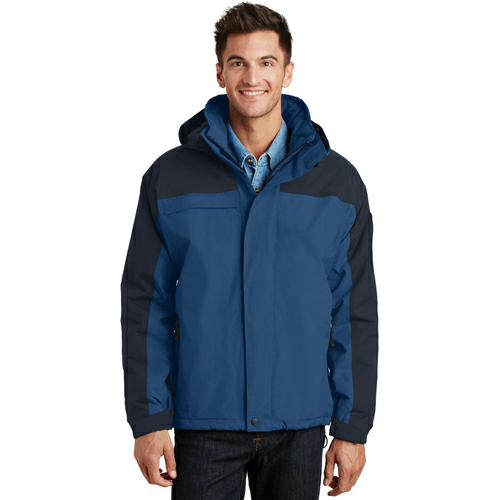 Regatta Bl Nvy Port Authority Tall Nootka Jacket as seen from the front