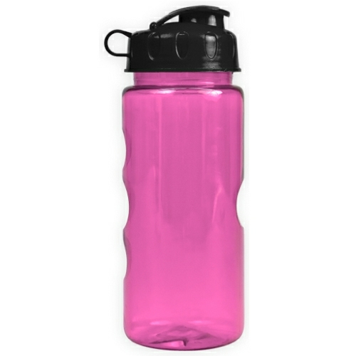 Transparent Fuchsia/black The Infuser - 22 oz. Tritan Bottle w/ Infuser as seen from the front