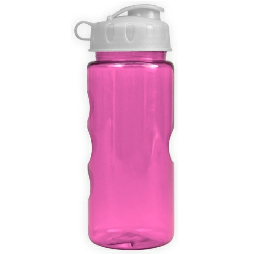 Transparent Fuchsia/white The Infuser - 22 oz. Tritan Bottle w/ Infuser as seen from the front