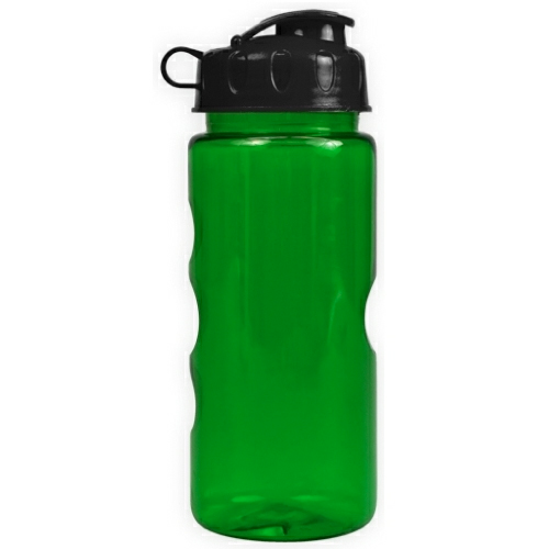 Transparent Green/black The Infuser - 22 oz. Tritan Bottle w/ Infuser as seen from the front