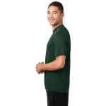 Forest Green Sport-Tek Tall Competitor Tee as seen from the sleeveleft