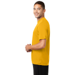 Gold Sport-Tek Tall Competitor Tee as seen from the sleeveleft