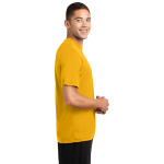 Gold Sport-Tek Tall Competitor Tee as seen from the sleeveright