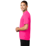 Neon Pink Sport-Tek Tall Competitor Tee as seen from the sleeveleft