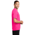 Neon Pink Sport-Tek Tall Competitor Tee as seen from the sleeveright