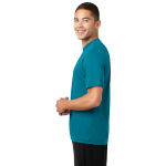 Tropic Blue Sport-Tek Tall Competitor Tee as seen from the sleeveleft