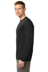 Black Sport-Tek Tall Long Sleeve Competitor Tee as seen from the sleeveleft