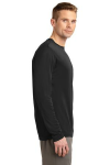 Black Sport-Tek Tall Long Sleeve Competitor Tee as seen from the sleeveright
