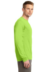 Lime Shock Sport-Tek Tall Long Sleeve Competitor Tee as seen from the sleeveright