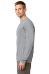 Silver Sport-Tek Tall Long Sleeve Competitor Tee as seen from the sleeveleft