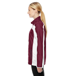 Sport Maroon Ladies' Squad Jacket as seen from the sleeveright