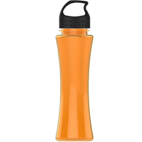 Translucent Orange/black The Curve - 17 oz. Tritan Bottle - Crest Lid as seen from the front