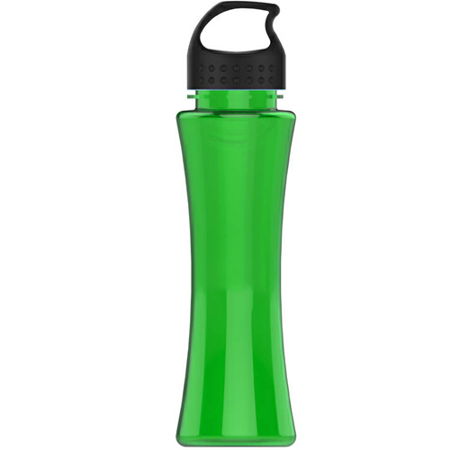 Transparent Green/black The Curve - 17 oz. Tritan Bottle - Crest Lid as seen from the front